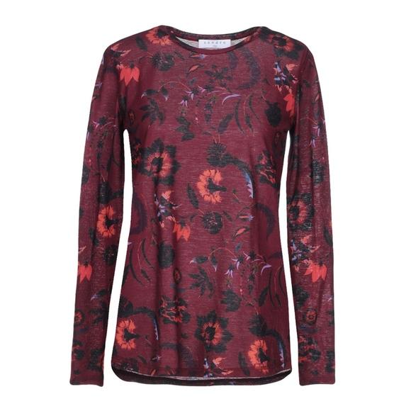 ff0afd7839fc30 Sandro Tops | Paris Floral Womens Long Sleeve Tshirt | Poshmark